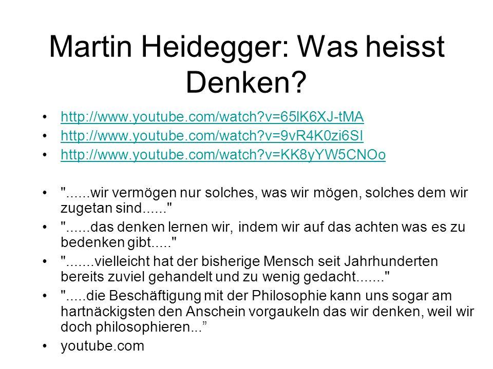 Martin Heidegger: Was heisst Denken
