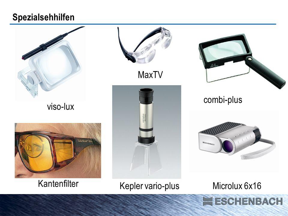 Spezialsehhilfen MaxTV combi-plus viso-lux Kantenfilter Kepler vario-plus Microlux 6x16