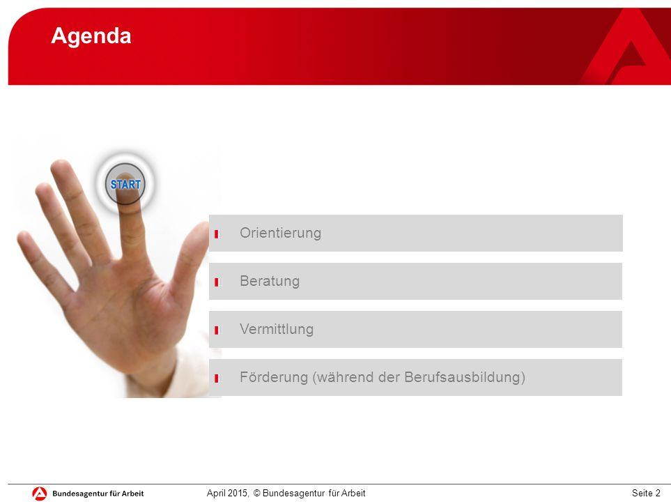 Agenda Orientierung Beratung Vermittlung