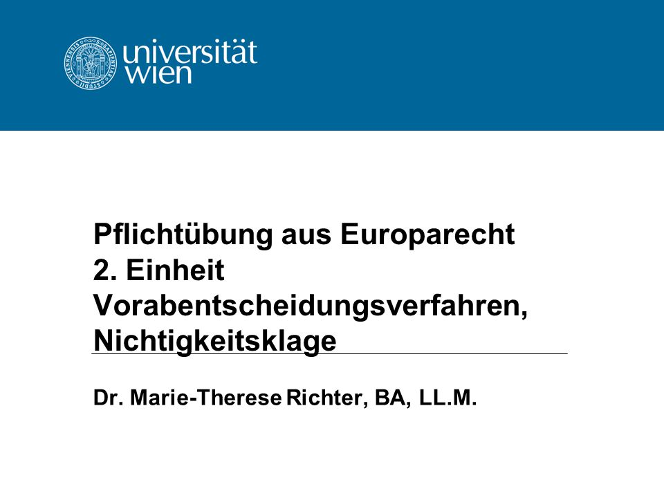 Dr. Marie-Therese Richter, BA, LL.M.