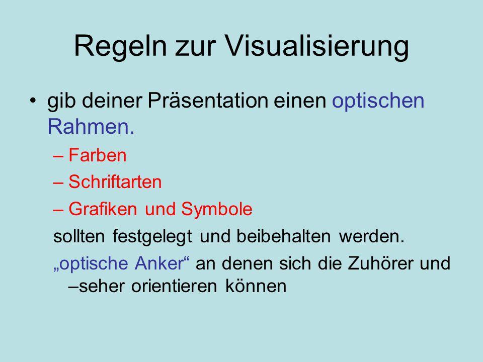 Regeln zur Visualisierung