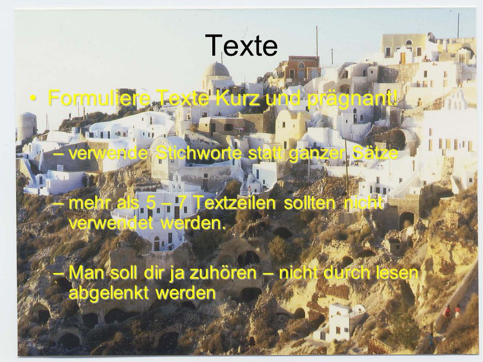 Texte Formuliere Texte Kurz und prägnant!