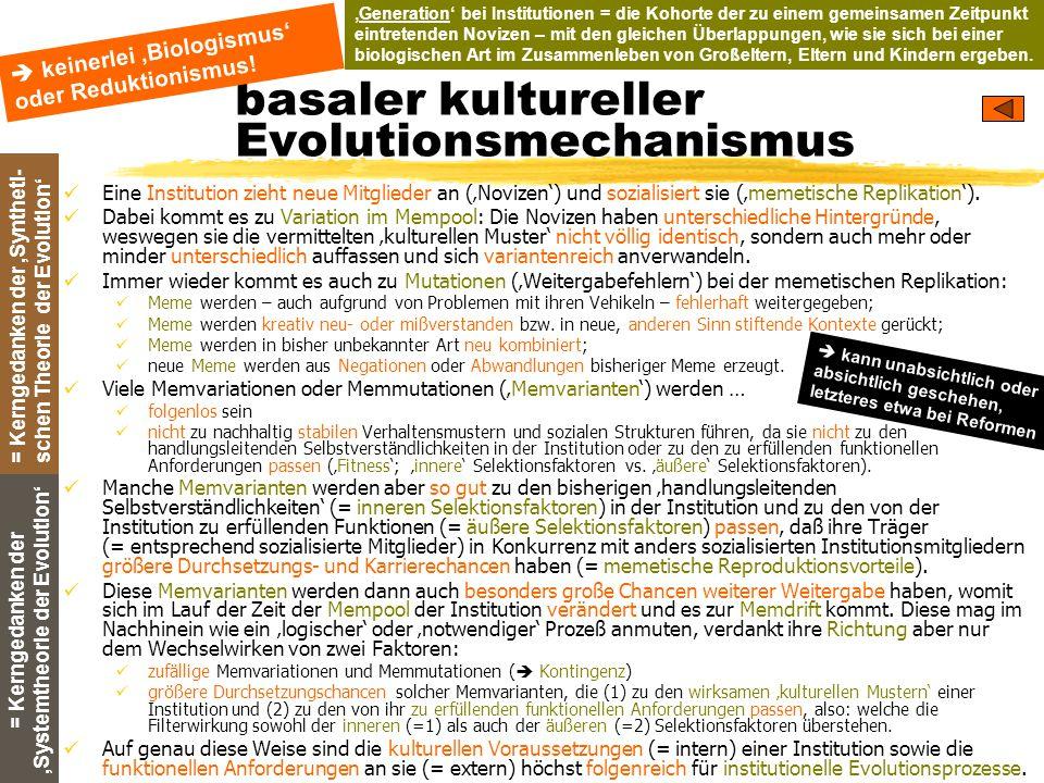 basaler kultureller Evolutionsmechanismus
