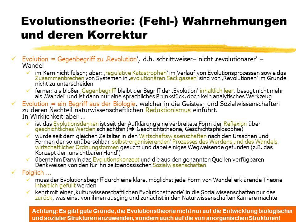 Evolutionstheorie: (Fehl-) Wahrnehmungen und deren Korrektur