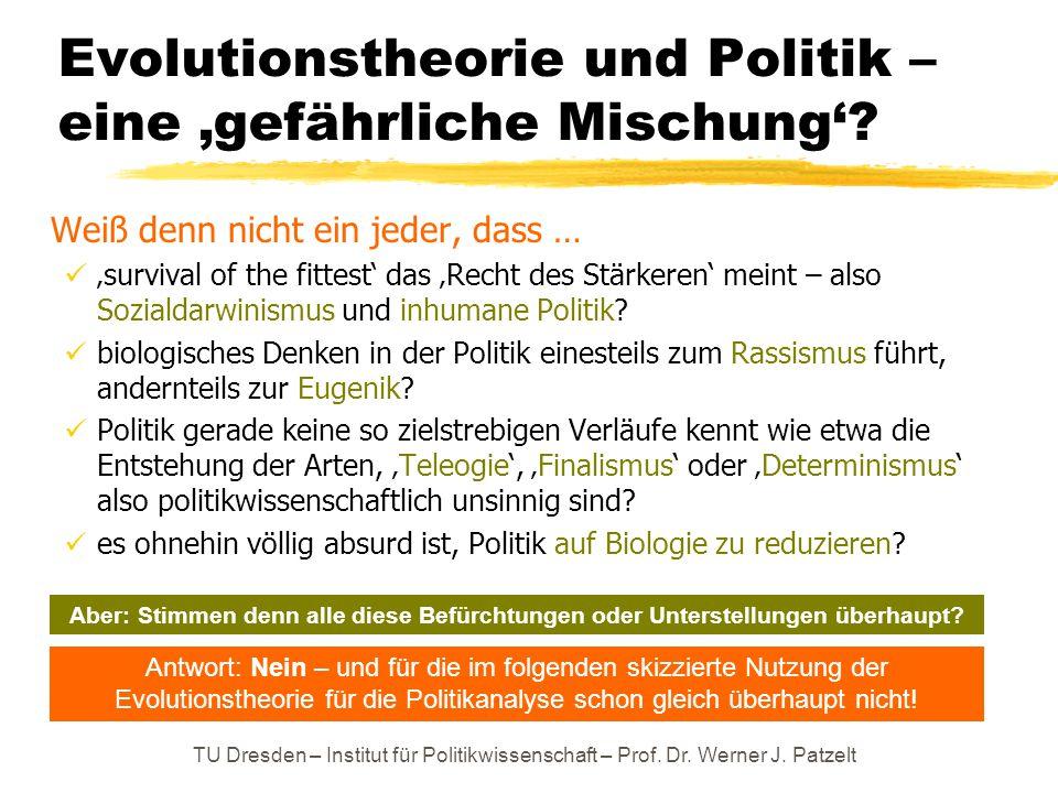 Evolutionstheorie und Politik – eine 'gefährliche Mischung'