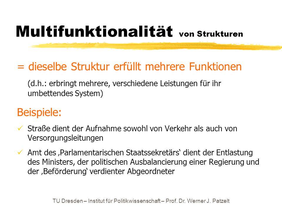 Multifunktionalität von Strukturen