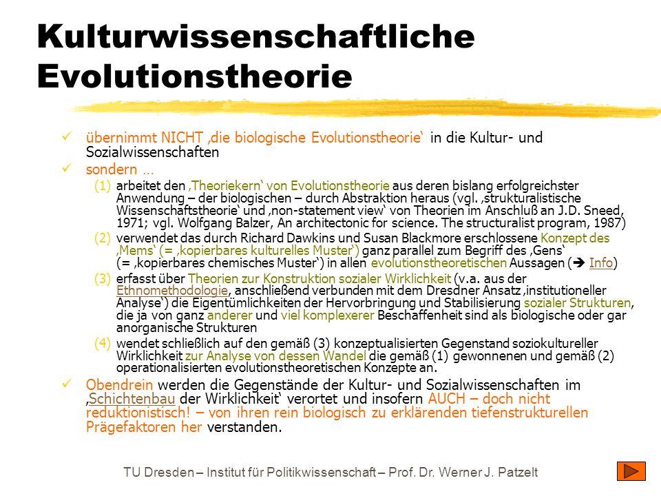 Kulturwissenschaftliche Evolutionstheorie