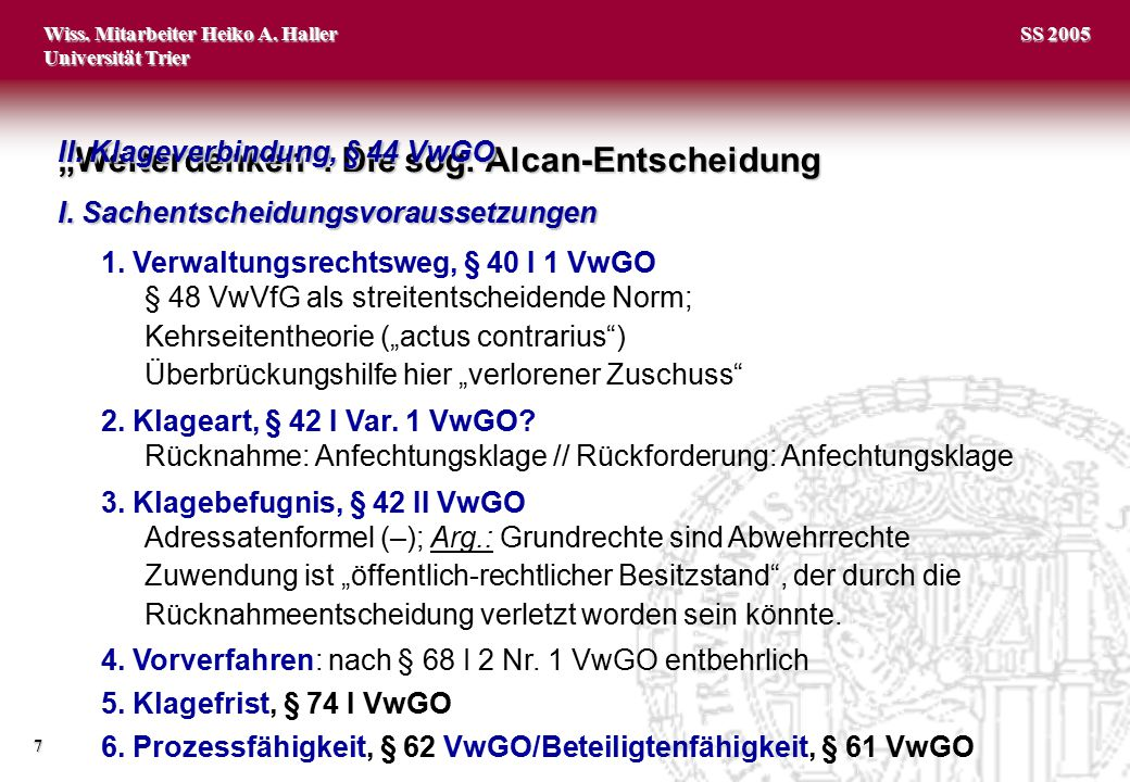 """""""Weiterdenken : Die sog. Alcan-Entscheidung"""