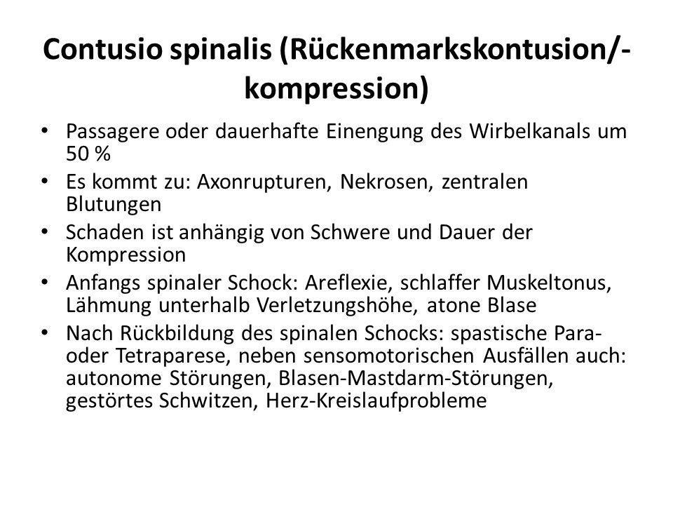 Contusio spinalis (Rückenmarkskontusion/-kompression)