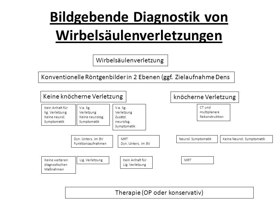 Bildgebende Diagnostik von Wirbelsäulenverletzungen