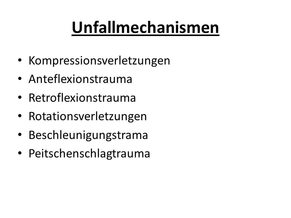 Unfallmechanismen Kompressionsverletzungen Anteflexionstrauma