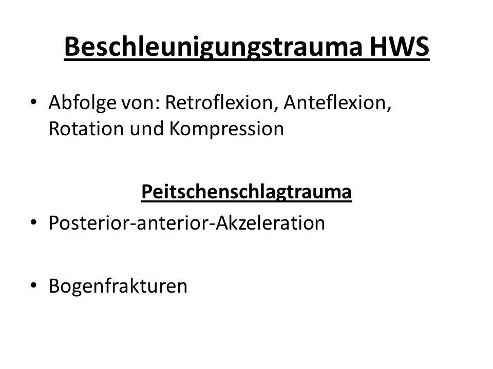 Beschleunigungstrauma HWS