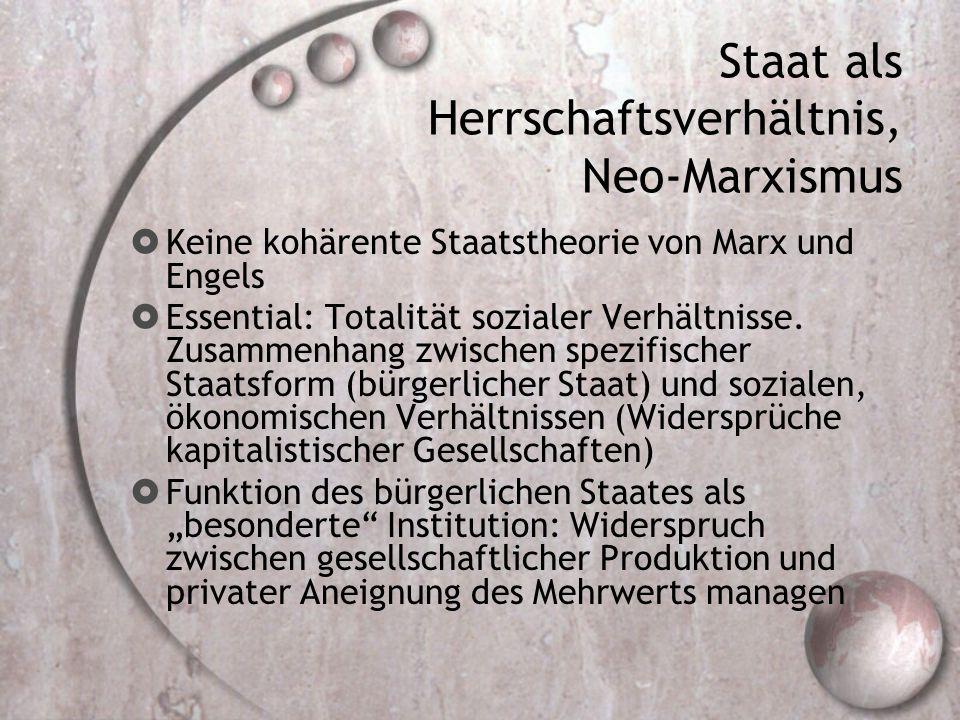 Staat als Herrschaftsverhältnis, Neo-Marxismus