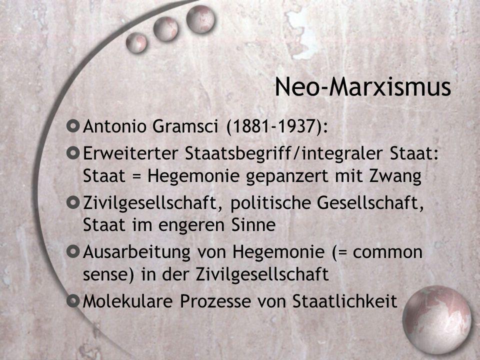 Neo-Marxismus Antonio Gramsci (1881-1937):