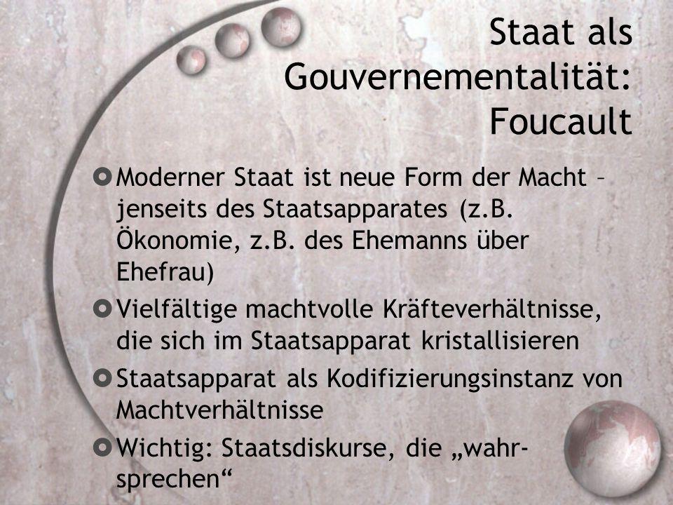 Staat als Gouvernementalität: Foucault