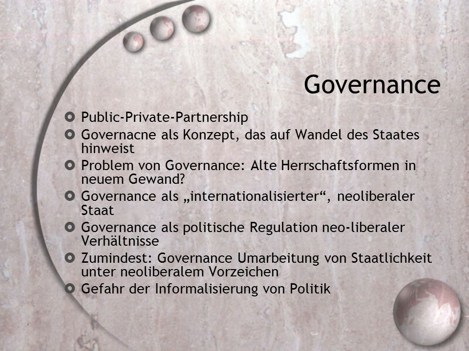 Governance Public-Private-Partnership