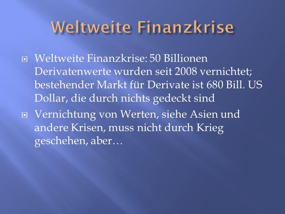Weltweite Finanzkrise