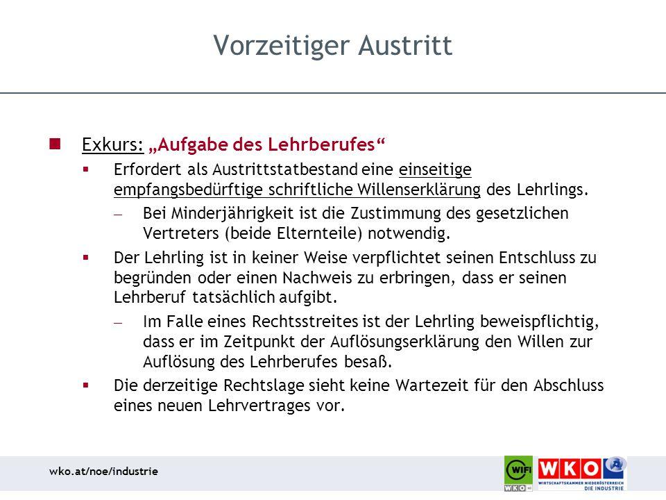 """Vorzeitiger Austritt Exkurs: """"Aufgabe des Lehrberufes"""