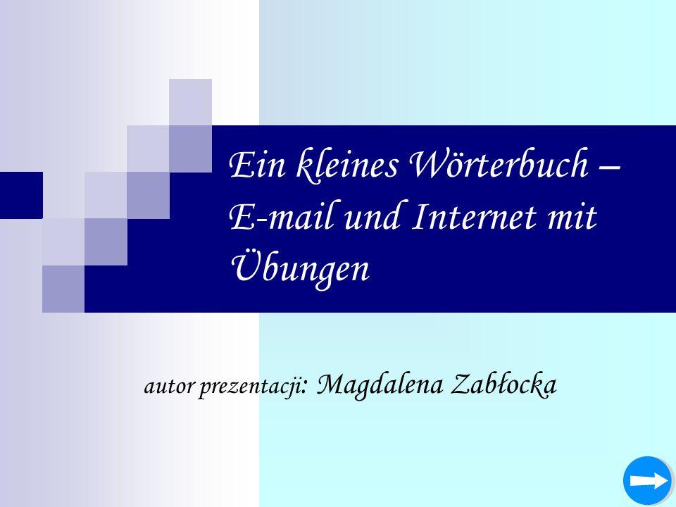 Ein kleines Wörterbuch – E-mail und Internet mit Übungen