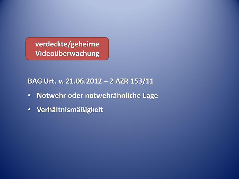 verdeckte/geheime Videoüberwachung