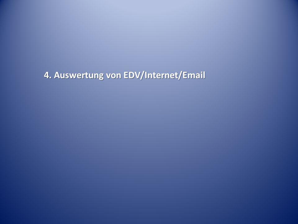 4. Auswertung von EDV/Internet/Email
