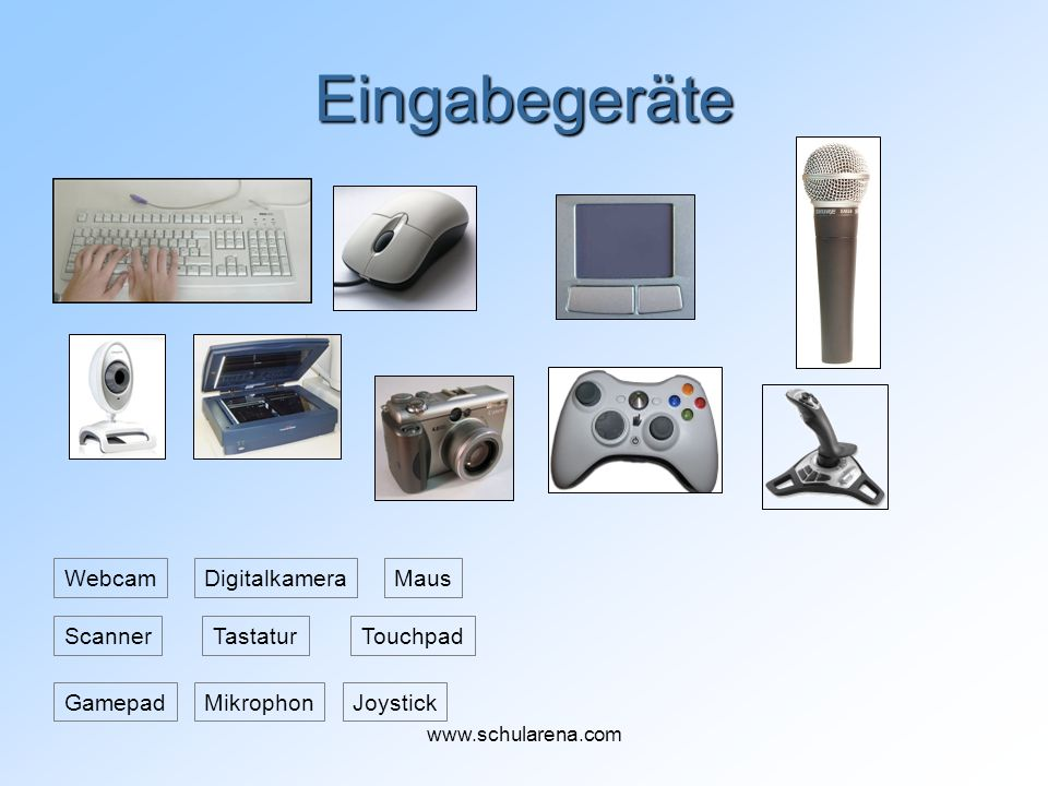 Eingabegeräte Webcam Digitalkamera Maus Scanner Tastatur Touchpad