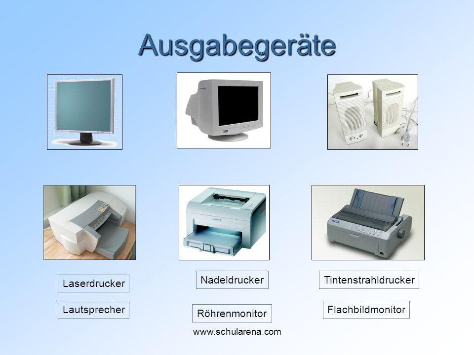 Ausgabegeräte Nadeldrucker Tintenstrahldrucker Laserdrucker