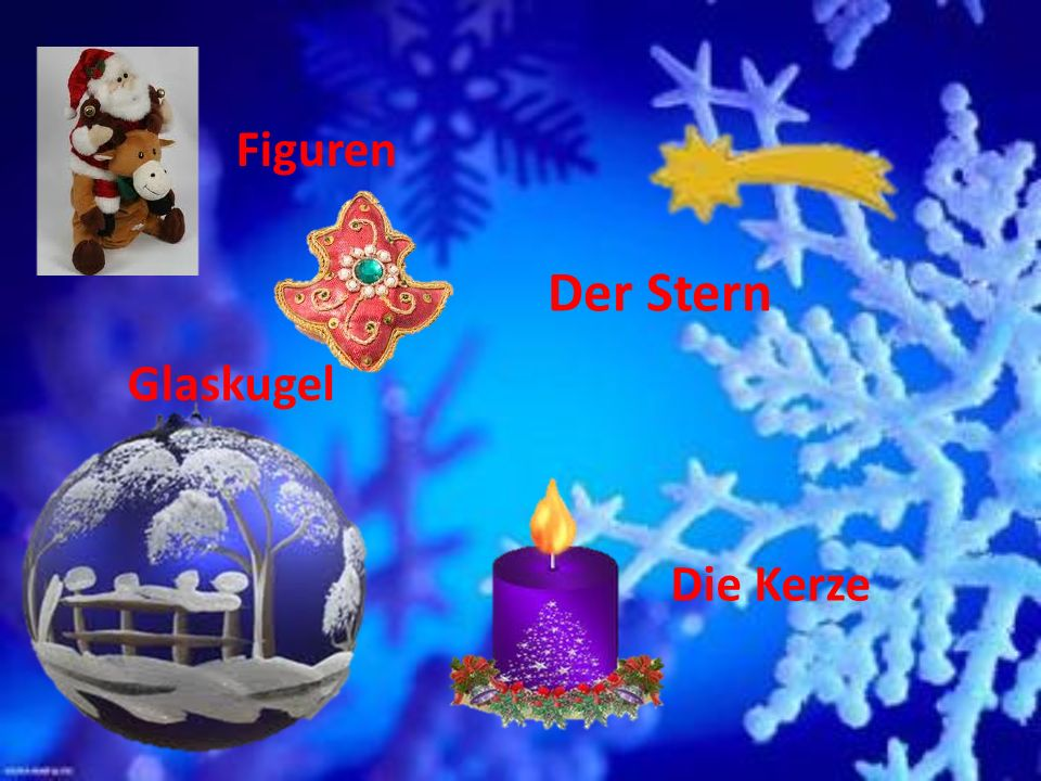 Figuren Der Stern Glaskugel Die Kerze