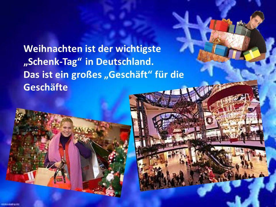 """Weihnachten ist der wichtigste """"Schenk-Tag in Deutschland."""