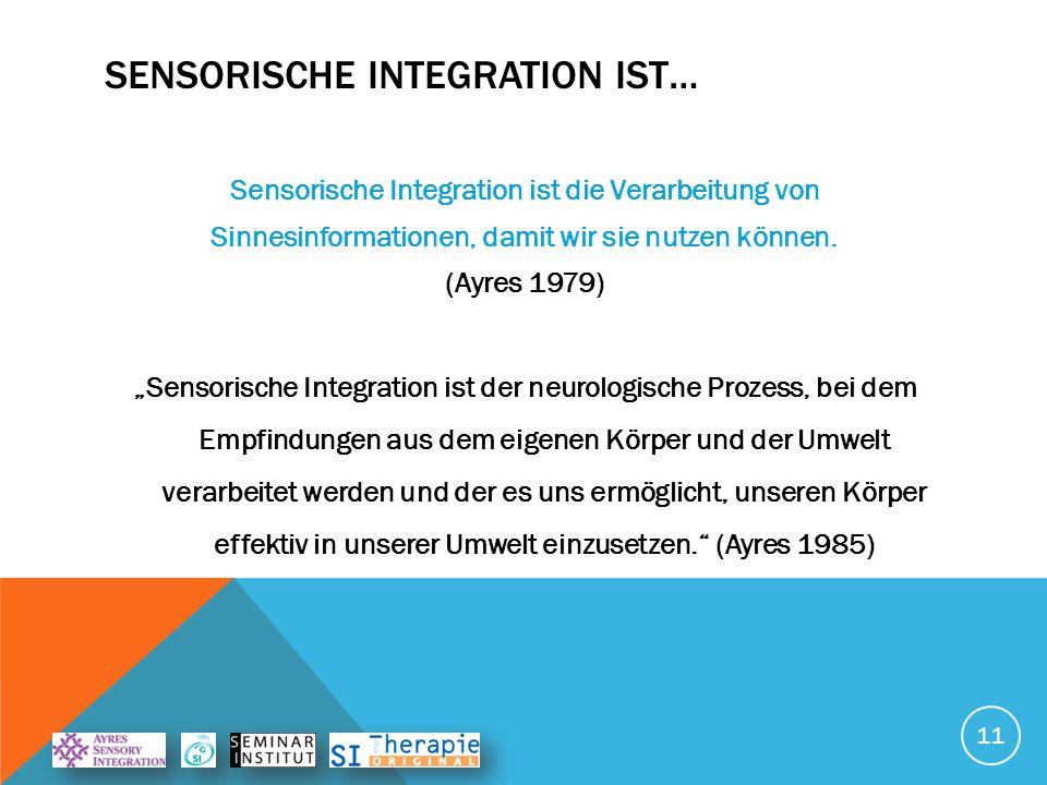 Sensorische integration ist…