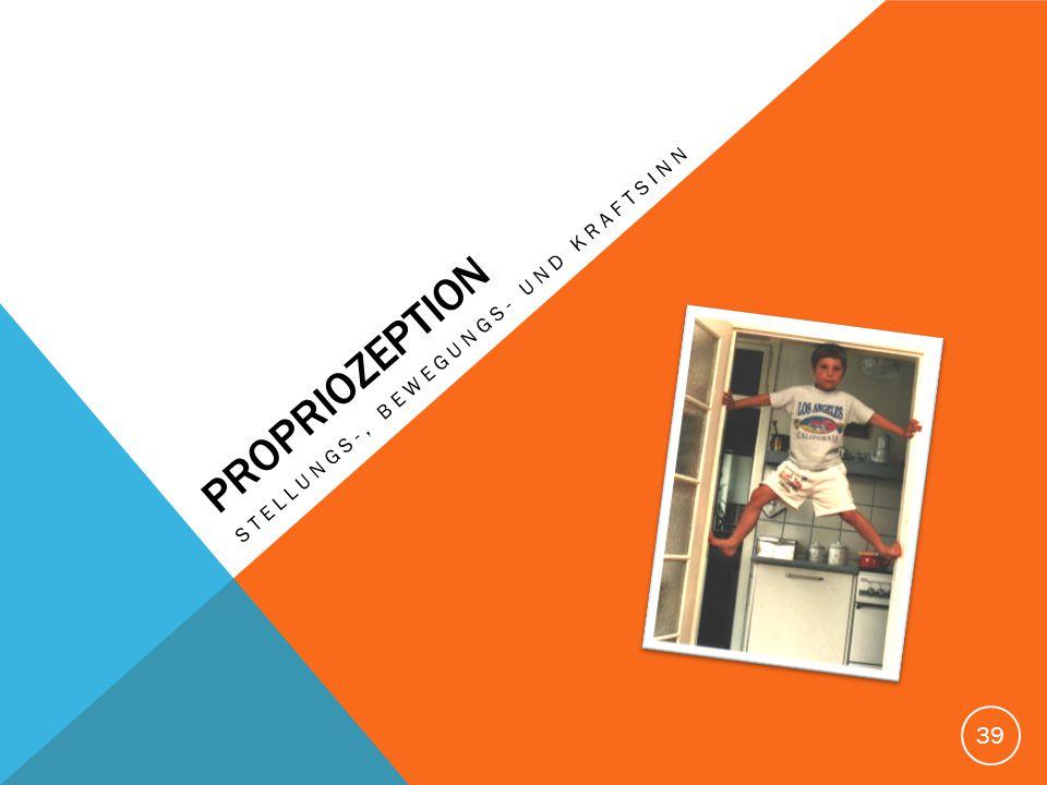 PROPRIOZEPTION Stellungs-, bewegungs- und kraftsinn