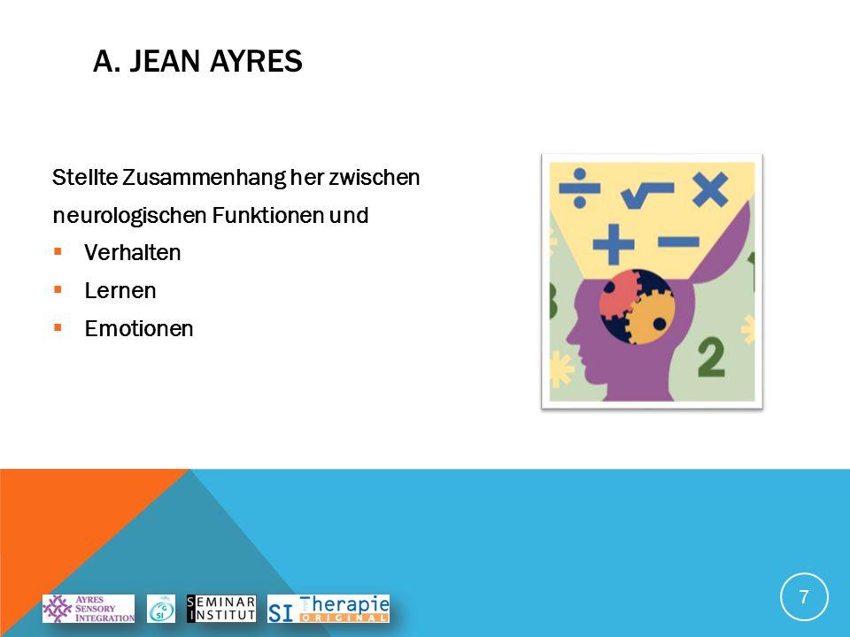 A. Jean Ayres Stellte Zusammenhang her zwischen