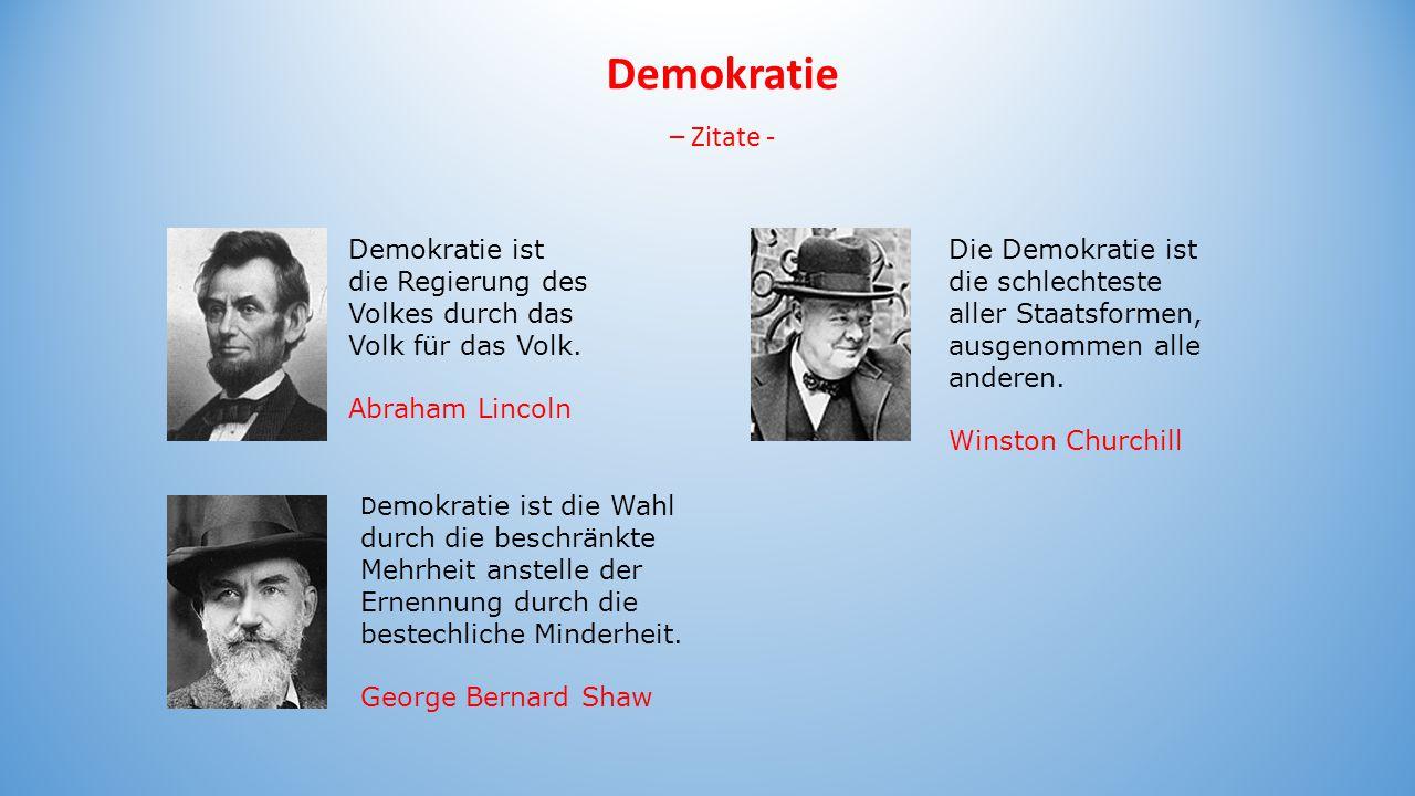 Demokratie – Zitate - Demokratie ist