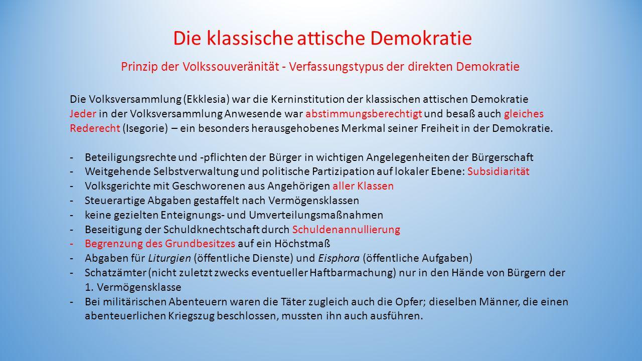 Die klassische attische Demokratie
