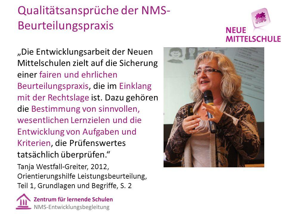 Qualitätsansprüche der NMS-Beurteilungspraxis