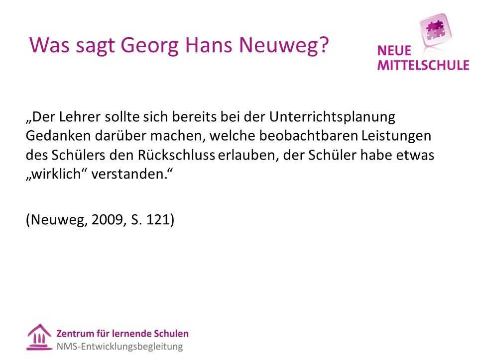 Was sagt Georg Hans Neuweg