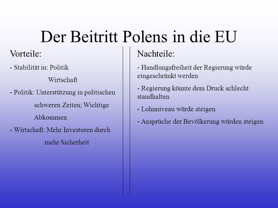 Der Beitritt Polens in die EU