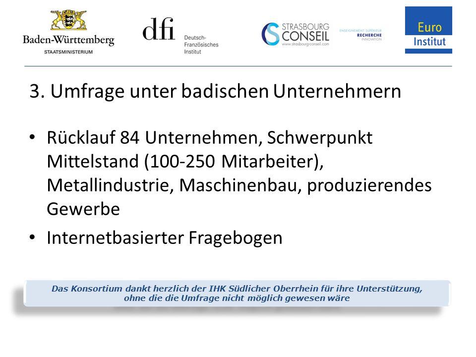 3. Umfrage unter badischen Unternehmern