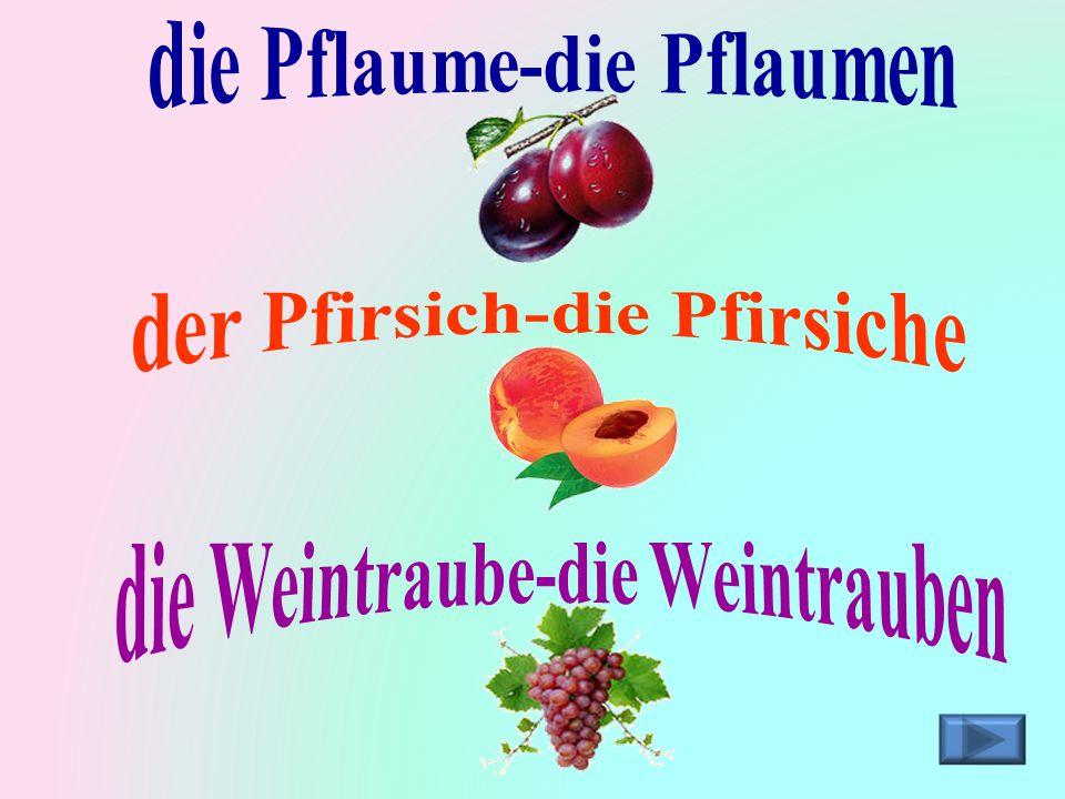 der Pfirsich-die Pfirsiche