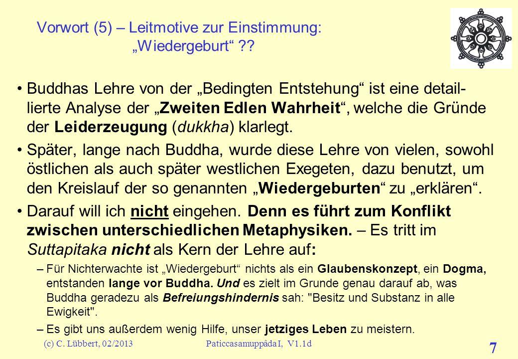 """Vorwort (5) – Leitmotive zur Einstimmung: """"Wiedergeburt"""