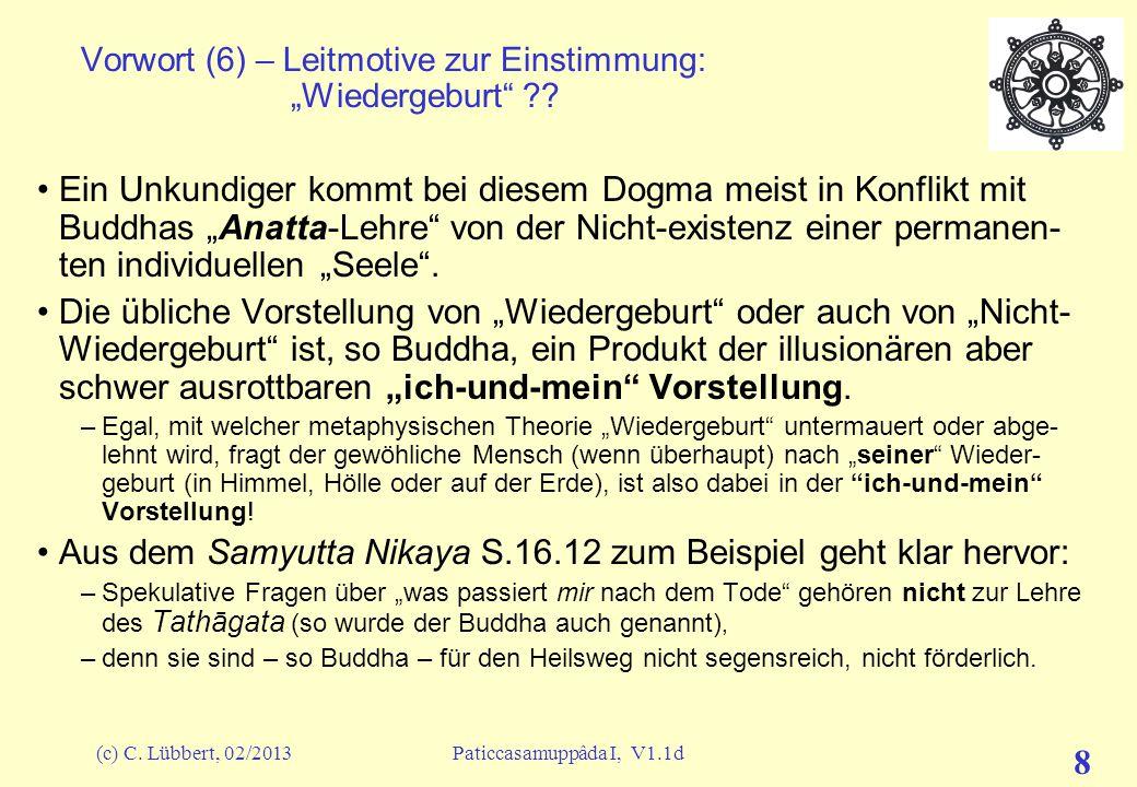 """Vorwort (6) – Leitmotive zur Einstimmung: """"Wiedergeburt"""