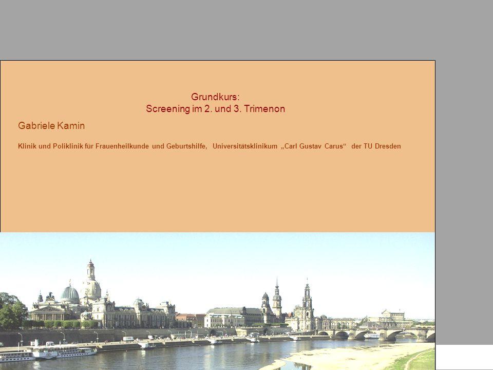 Grundkurs: Screening im 2. und 3. Trimenon