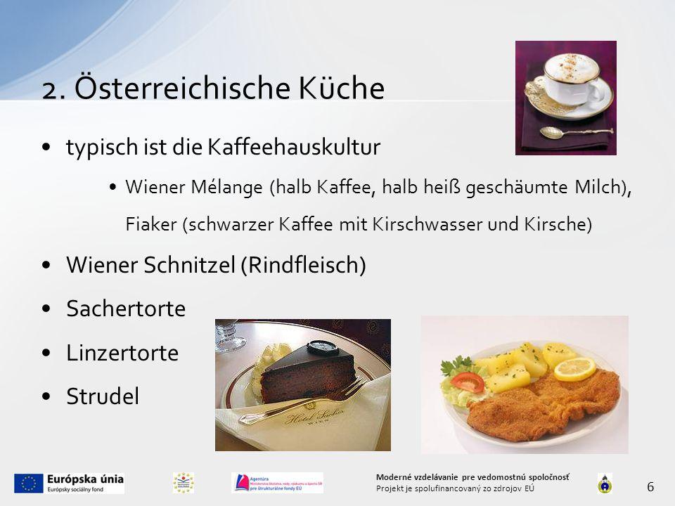 2. Österreichische Küche
