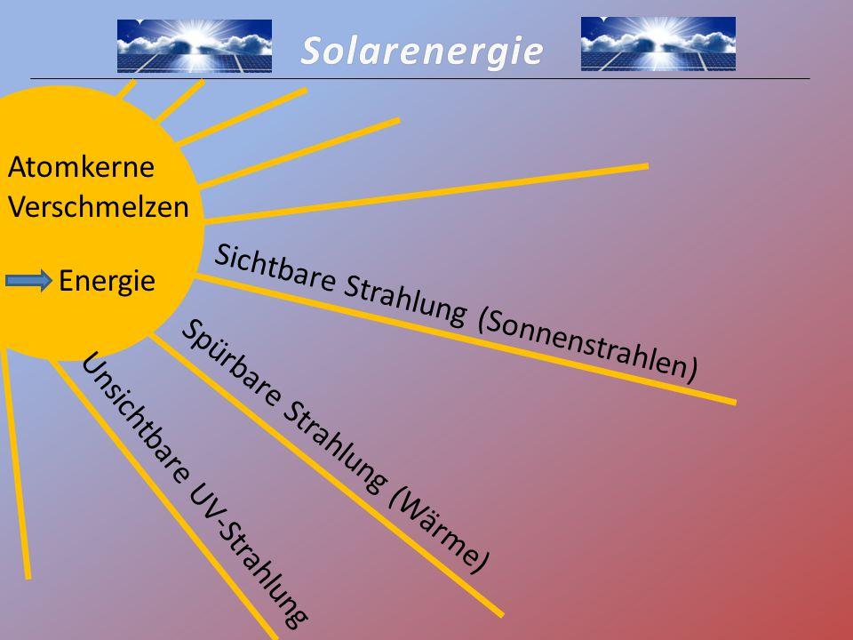 Solarenergie Atomkerne Verschmelzen