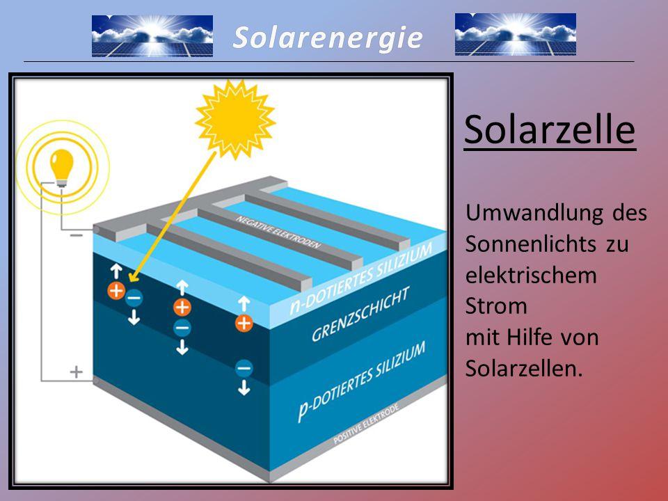 Solarzelle Solarenergie Umwandlung des Sonnenlichts zu