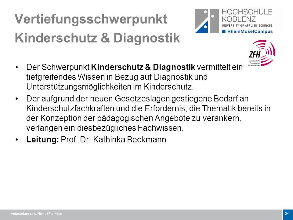 Vertiefungsschwerpunkt Kinderschutz & Diagnostik