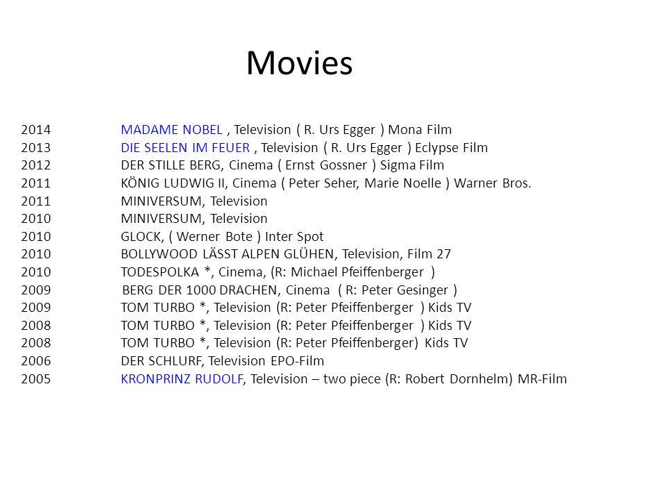 Movies 2014 MADAME NOBEL , Television ( R. Urs Egger ) Mona Film