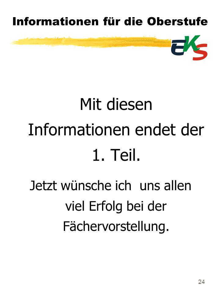 Informationen für die Oberstufe