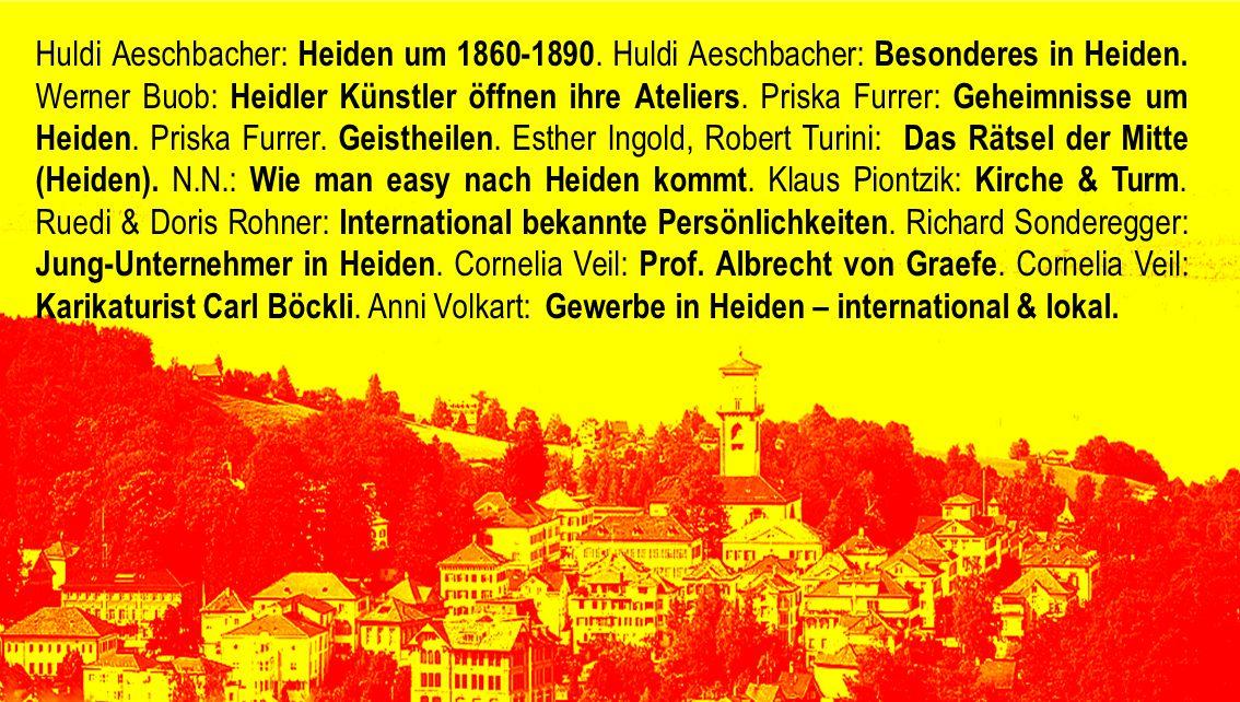 Huldi Aeschbacher: Heiden um 1860-1890