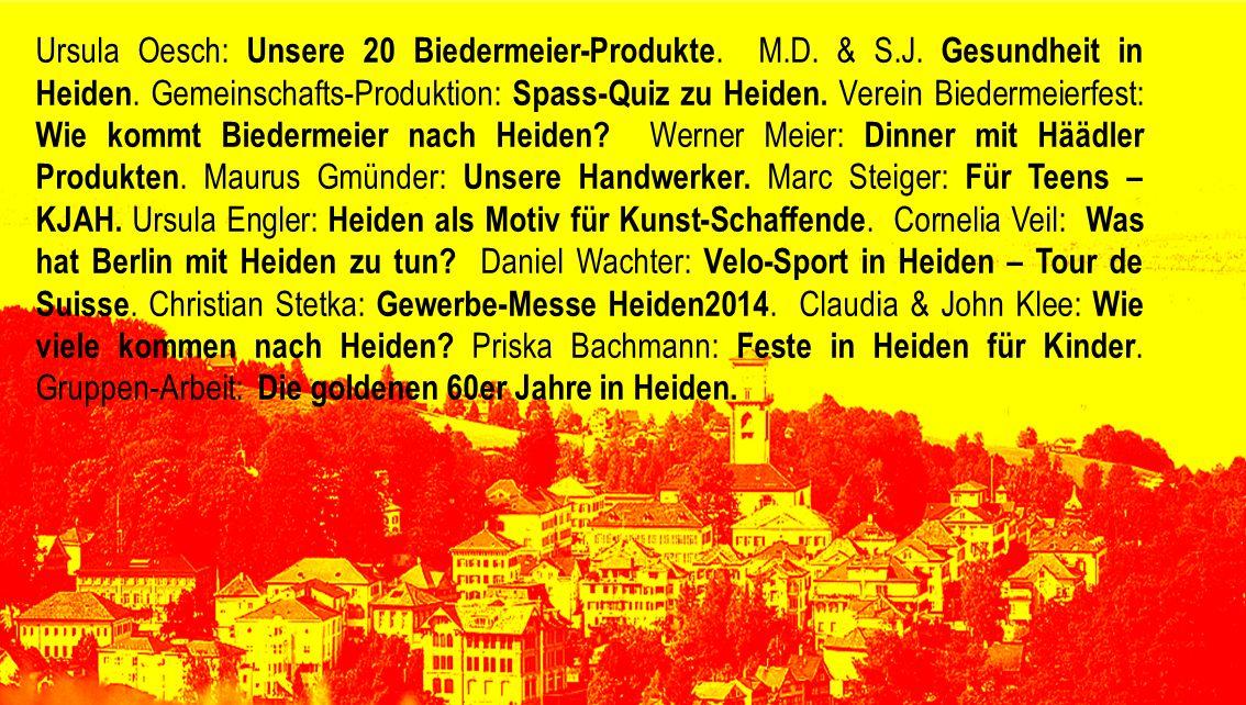 Ursula Oesch: Unsere 20 Biedermeier-Produkte. M. D. & S. J